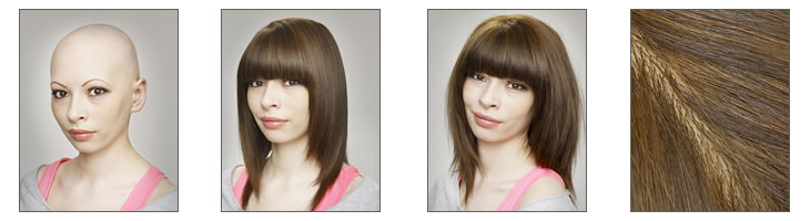 Images of one of our female customers and her wig